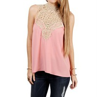 Rose Crochet Neck Top