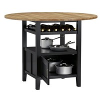 Belmont Black High Dining Table in Dining Tables | Crate&Barrel