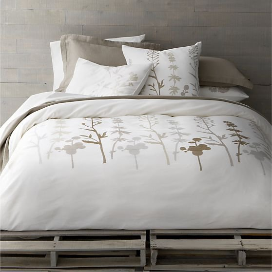 woodland bed linens in all decorative from crate and barrel