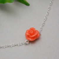 Coral Necklace  by DanglingJewelry