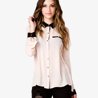 Contrast Georgette Shirt