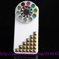 Studded Iphone 5 Case bronze studs Kaleidoscope IPHONE 5 Case,Effects rotary --for Apple iPhone5Case,  iPhone 5 hard Case-Personalized-white