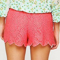 Free People Womens Scalloped Lace Skort -