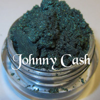 Johnny Cash Dark Green Glitter Shimmer Natural Mineral Eyeshadow Mica Pigment 5 Grams Lumikki Cosmetics