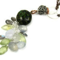 Bohemian Gemstone Necklace - leafandtendril.com