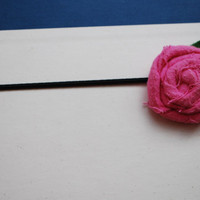 Pink Fabric Rosette by PosiesandPetals on Etsy