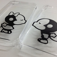 iPhone 4/4s Monkey Couple Kissing Clear Case