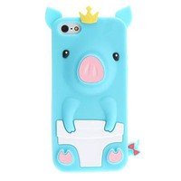 Cute Pig Pattern Soft iPhone 5 Case