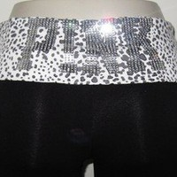 Victorias Secret LOVE PINK Leopard BLING Crystal YOGA Bootcut Pants NWT M