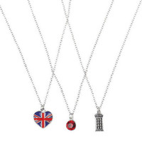 British Trio Necklaces