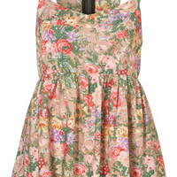 Floral Bow Back Suntop - Tops - Apparel - Topshop USA
