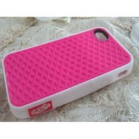 Amazon.com: iPhone 5 Silicone Rubber Sole Vans PINK with White Side Waffle Case Cover for iPhone 5: Cell Phones & Accessories