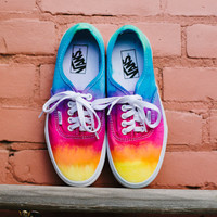 Tie dye custom Vans shoes by DoYouDreamOutLoud on Etsy