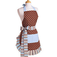 Women's Blue Chocolate Apron | Overstock.com