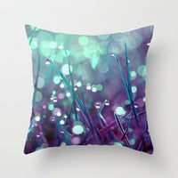 Fairy Drops Throw Pillow by Astrid Ewing | Society6