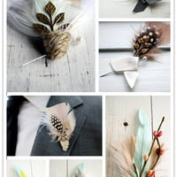 :::: The Inspired Bride? :::: ? Feather Your Groom: Gorgeous Boutonnieres from Pomp & Plumage