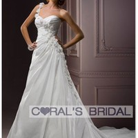 WD12075 one shoulder a line wedding dress Alyssandra A3547 coralsbridal