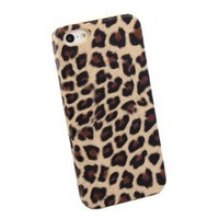 Amazon.com: Brown Furry Leopard Back Case / Cover for Apple iPhone 5 + Silver Stylus: Cell Phones & Accessories