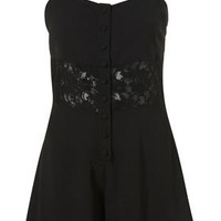 Lace Insert Playsuit - Rompers - Rompers - Apparel - Topshop USA