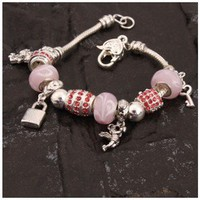 Charming Valentine Bracelet Bangle DIY Beads Decorations