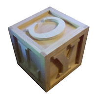 BIG Wooden Block 10&quot;x10&quot;x10&quot; Photo Props Kids Bedroom Playroom Nursery UnPainted