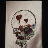 Hand Embroidered Wedding Anniversary by BeadedDelightsByStef