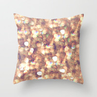 glitter and shine Throw Pillow by Sylvia Cook Photography | Society6