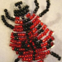 Lucky Ladybird Fully Hand Beaded Brooch by BeadedDelightsByStef