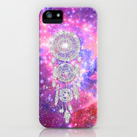 Galaxy Nebula Glitter dreamcatcher Pink Purple Space iPhone Case by Girly Trend | Society6
