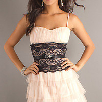 Prom Dresses, Celebrity Dresses, Sexy Evening Gowns at PromGirl: Short Spaghetti Strap Sweetheart Mystic Downtown Dress