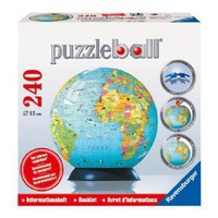 Amazon.com: Ravensburger Puzzle Ball Globe + Booklet; 240 pieces: Ravensburger: Toys & Games