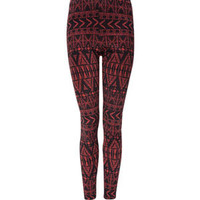 FULL TILT Ponte Ethnic Print Womens Leggings   215475305 | Leggings | Tillys.com