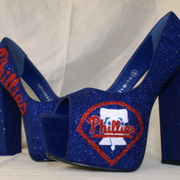 Philadelphia Phillies Baseball Themed shoes