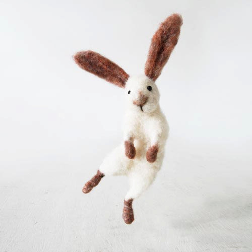 Sir Hopsalot bunny rabbit handmade from natural best by forestblue