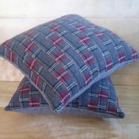 Pendleton Wool Pillow Pair 12x13 by RobinCottage on Etsy