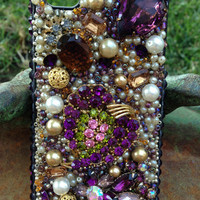 iPhone 4/4s Amethyst and Amber case