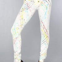 The Anarchy Jegging in Dancing On The Moon White : Denimocracy : Karmaloop.com - Global Concrete Culture