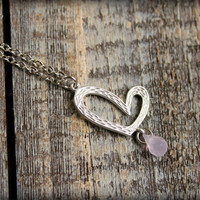 Teardrop from the Heart Silver Necklace with by saffronandsaege