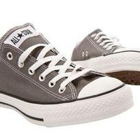 Grey Gray Converse All Star Low top SIZE 6 (fits 7)