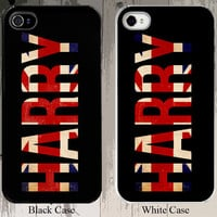 1 Direction Harry Styles Flag Design Custom 1D 1 D Niall Horan Zayn Malik Liam Payne iPhone Case - Fits iPhone 5S or 4S buyer choice