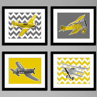 Boys airplane nursery art  vintage airplanes  by PaperLlamas