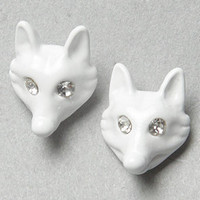 The Fox Earring in White : Wildfox : Karmaloop.com - Global Concrete Culture