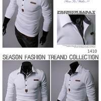 Designer Slim Fit Long Polo Tee Shirt