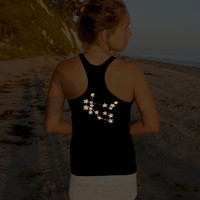 glow in the dark zodiac star tank top