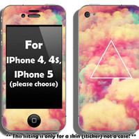 Buy 2 get 1 free - Hipster triangle skin for IPhone 4, 4s and IPhone 5