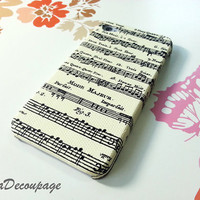 Music Sheet  iPhone 4 Case  iPhone 4s Case  Case for by AdaFashion