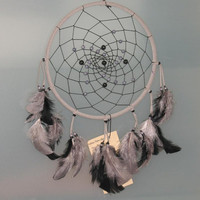 9&quot; Gray and Black Dreamcatcher by CatchMyDreams on Etsy
