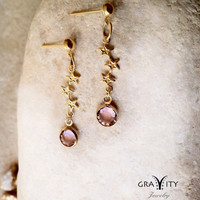 CryStar  Golden Stars Earrings with Swarovski Stonesby GRAVITYjewels