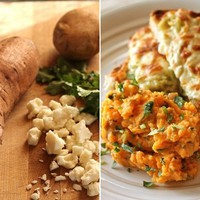 Cilantro and Goat Cheese Sweet Potato Mash