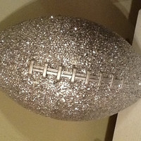 Glittered Sparkle Football